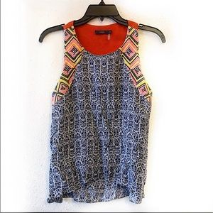 3 for 20 THML Boho Embroidered Tank Top Size Small